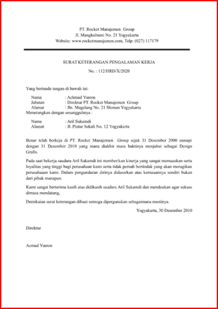 Contoh Surat Paklaring