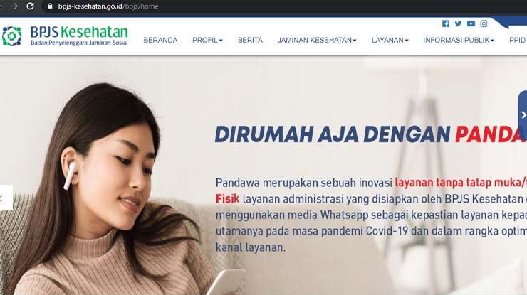 Melalui Website Resmi BPJS Kesehatan