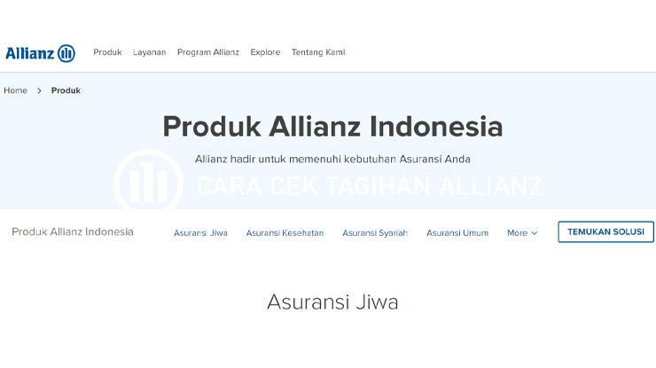 Cek Tagihan Allianz Secara Online