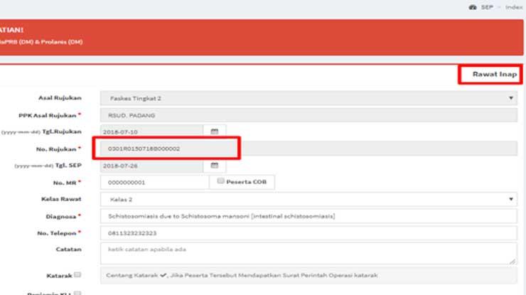 Rujukan Online Faskes Tingkat II Rawat Inap