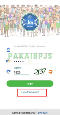 Lupa Password Mobile JKN